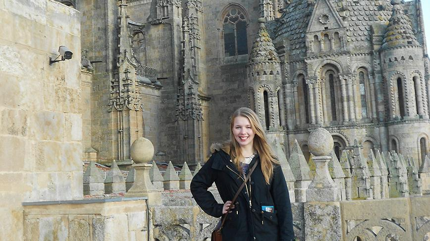 Spanish major Mallory Russell in Salamanca