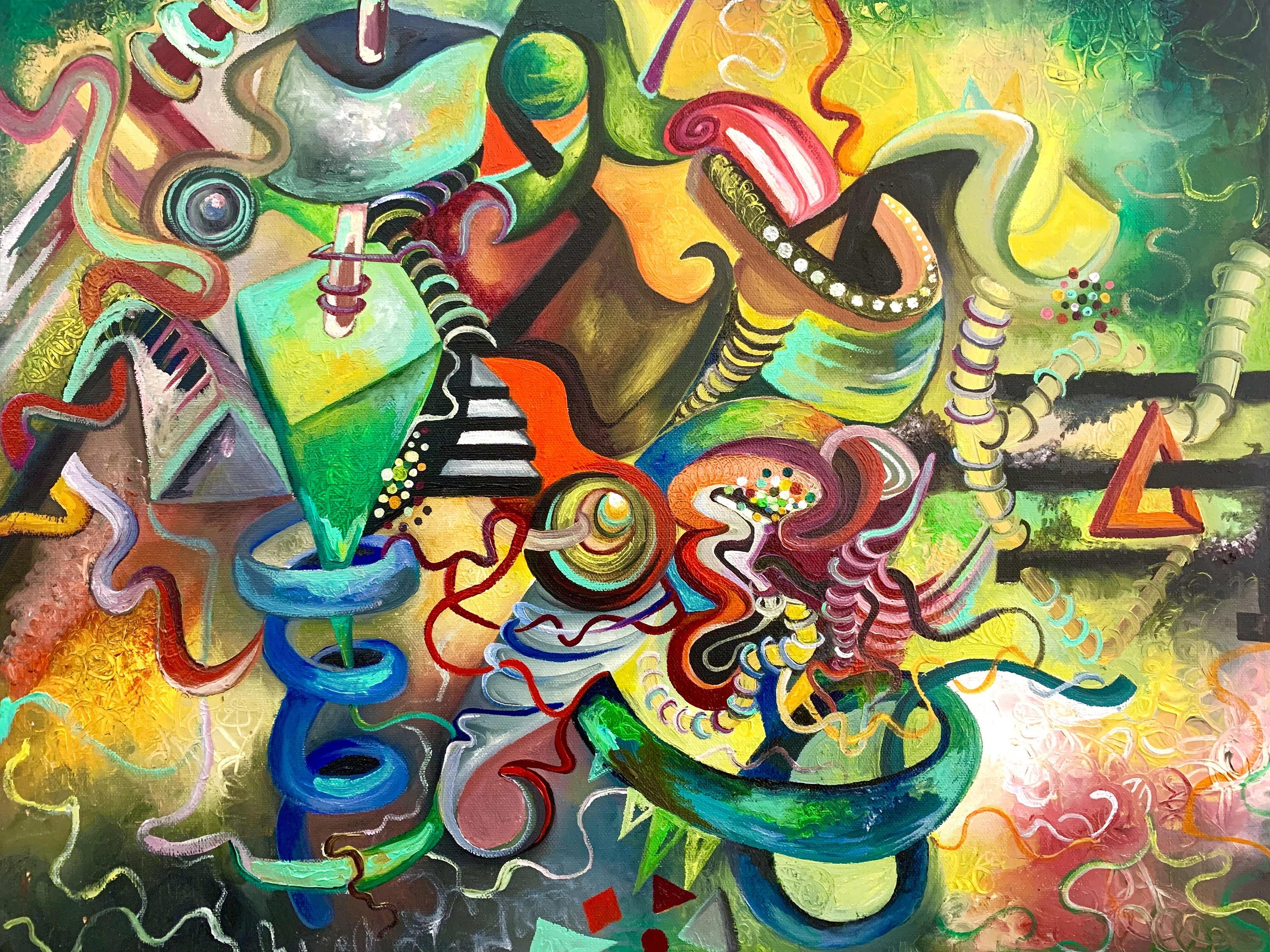 Shea McCarthy oil painting, titled Colored Subconscious