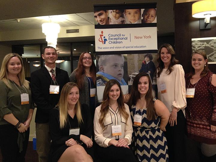 Group photo of special education students who presented at conference