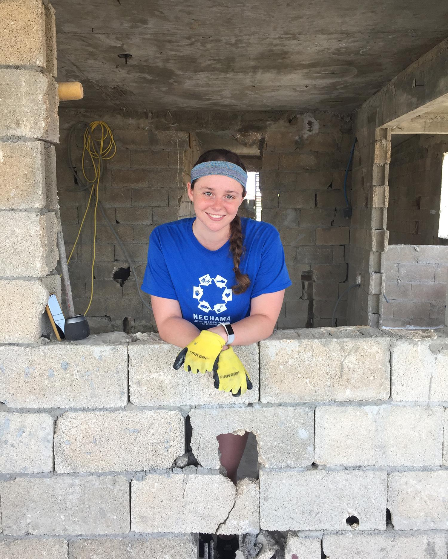 Chanel Meyer volunteering in Puerto Rico