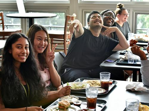 EOP students enjoy a lunch during their July summer program