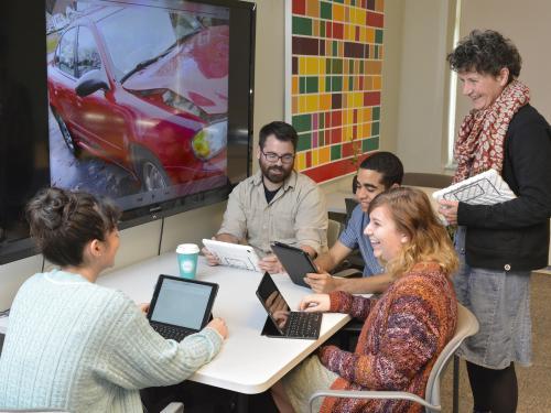 Leigh Wilson teaches Digital Oz class