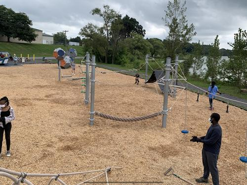 A Sophomore Service Day supports work at the Fulton Teen Park
