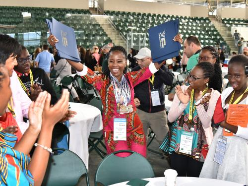 Students celebrate honors during GENIUS Olympiad