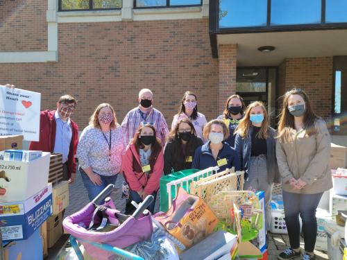 LOC Class of 2021 collected donations for those entering foster care