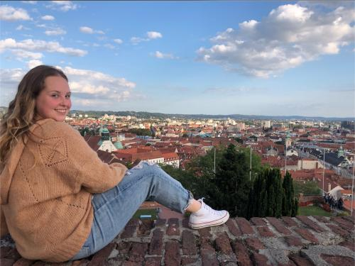 Michelle DiBlasio pictured from a previous study-abroad trip in Graz, Austria