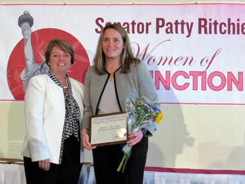 Pam Caraccioli receives award from state Sen. Patty Ritchie