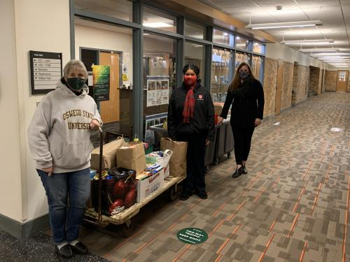 From the 2020 drive, on-campus donations supported the United Way of Greater Oswego County, Salvation Army and others