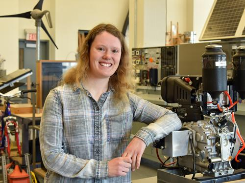 Amanda Young is an outstanding technology education student