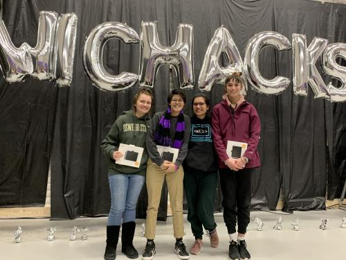 SUNY Oswego team members who won award at hackathon for their inclusive TRANSition app