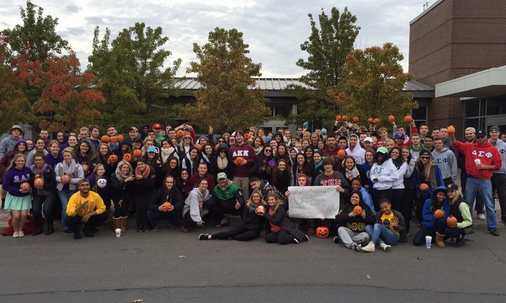 Greek Life comes together at Pumpkin Run