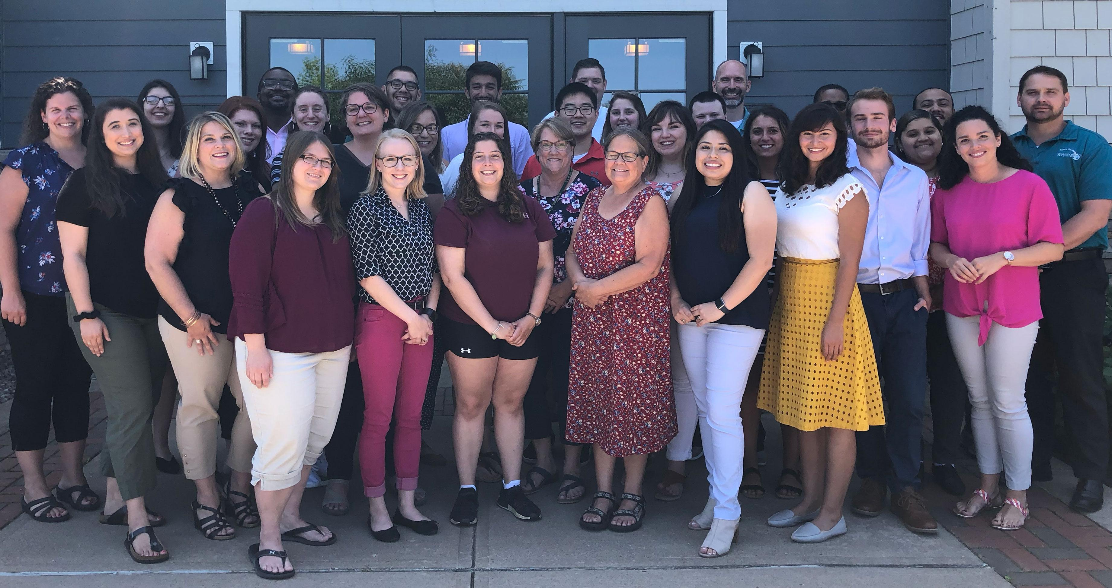 The new Residence Hall staff for Fall 2019.