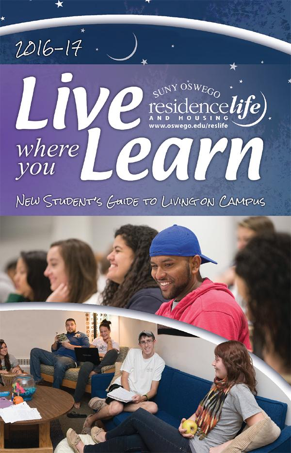 Live Where You Learn 2016 -2017 A Student's Guide to Living On Campus