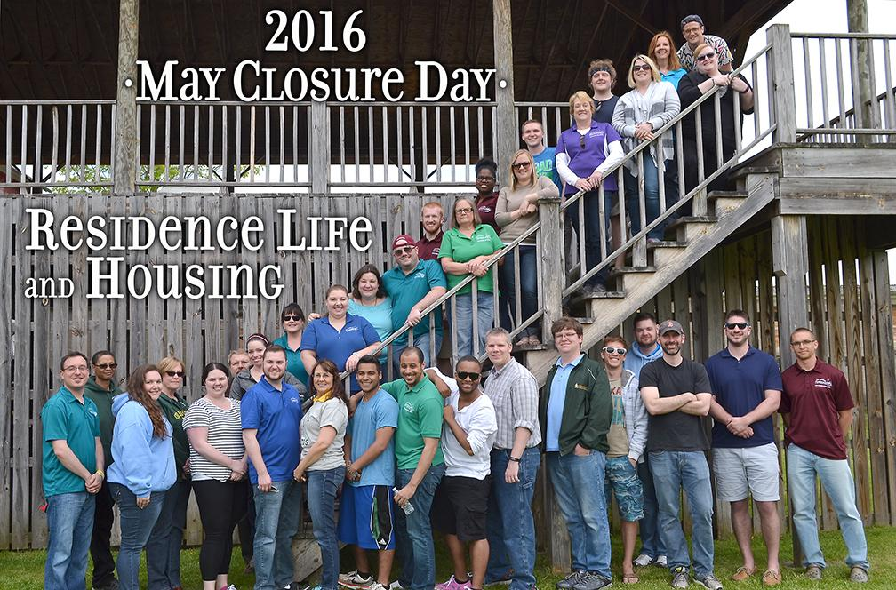Residence Life Staff at year end picnic. May 2016