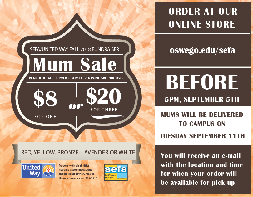 SEFA Fall Mum Sale