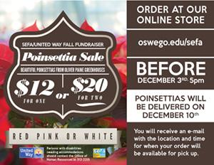 Annual SEFA Poinsettia Sale Flyer 2015