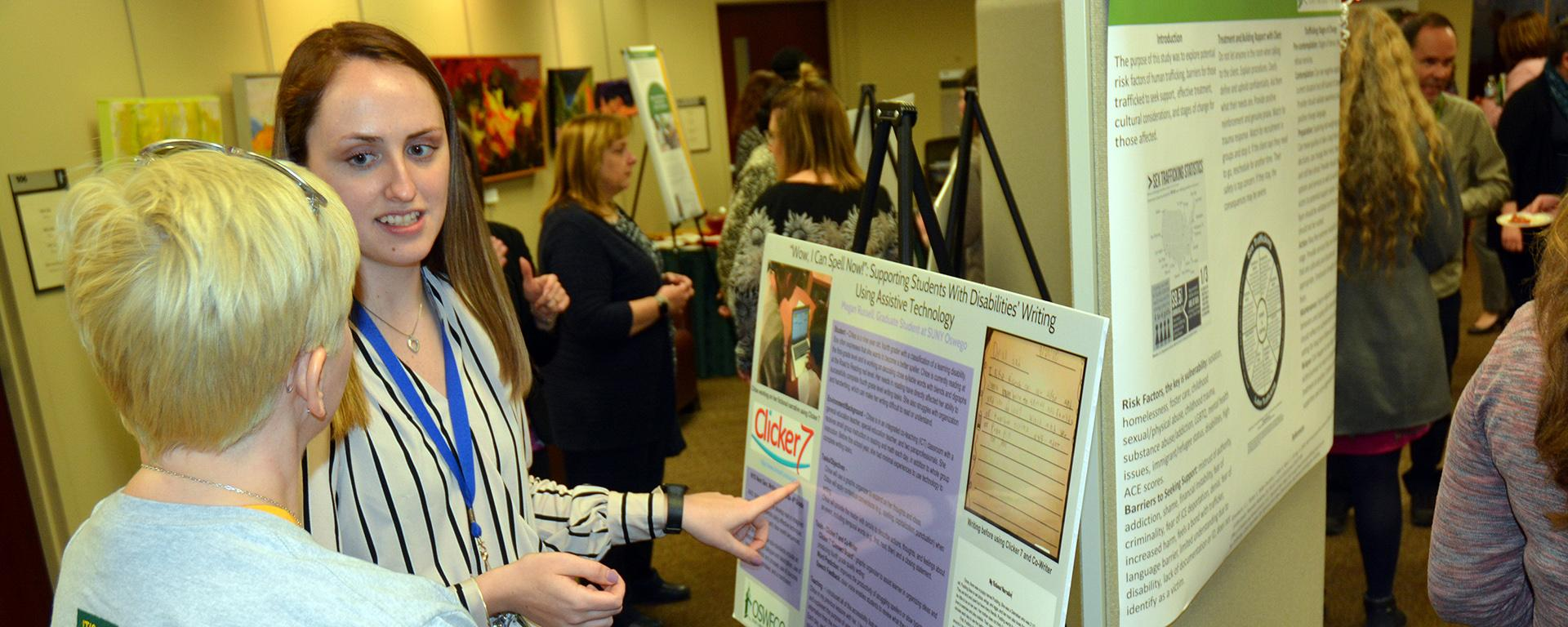 Megan Russell speaks about her research supporting students' reading abilities